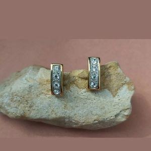 Vintage Butler FAC 14k gold post earrings
